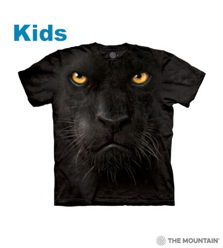 Black Panther Face - Kids Big Face™ T-shirt - The Mountain®